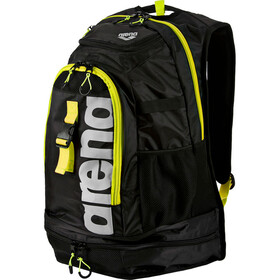 arena Fastpack 2.1 Backpack 45L, black/fluo-yellow/silver
